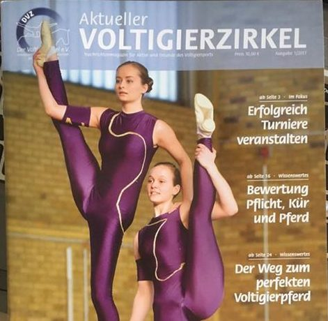 Interview in Voltigierzirkel 1/2017 by Nienke de Wolff
